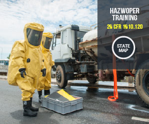 Click for HAZWOPER Training Map